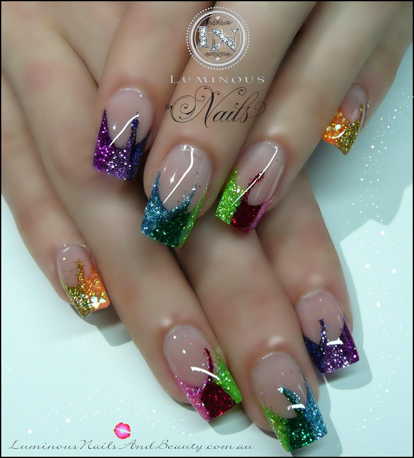 Glitter Nail Art Designs: Luminous Nails: May 2013
