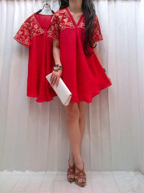 Dress Top Bordir Kode M-545Manggo