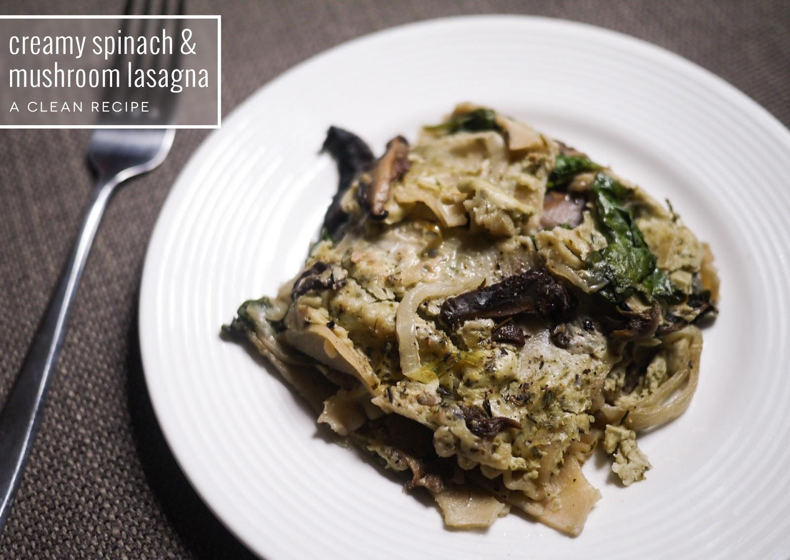 mushroom lasagna ultra creamy spinach and mushroom lasagna recipes ...