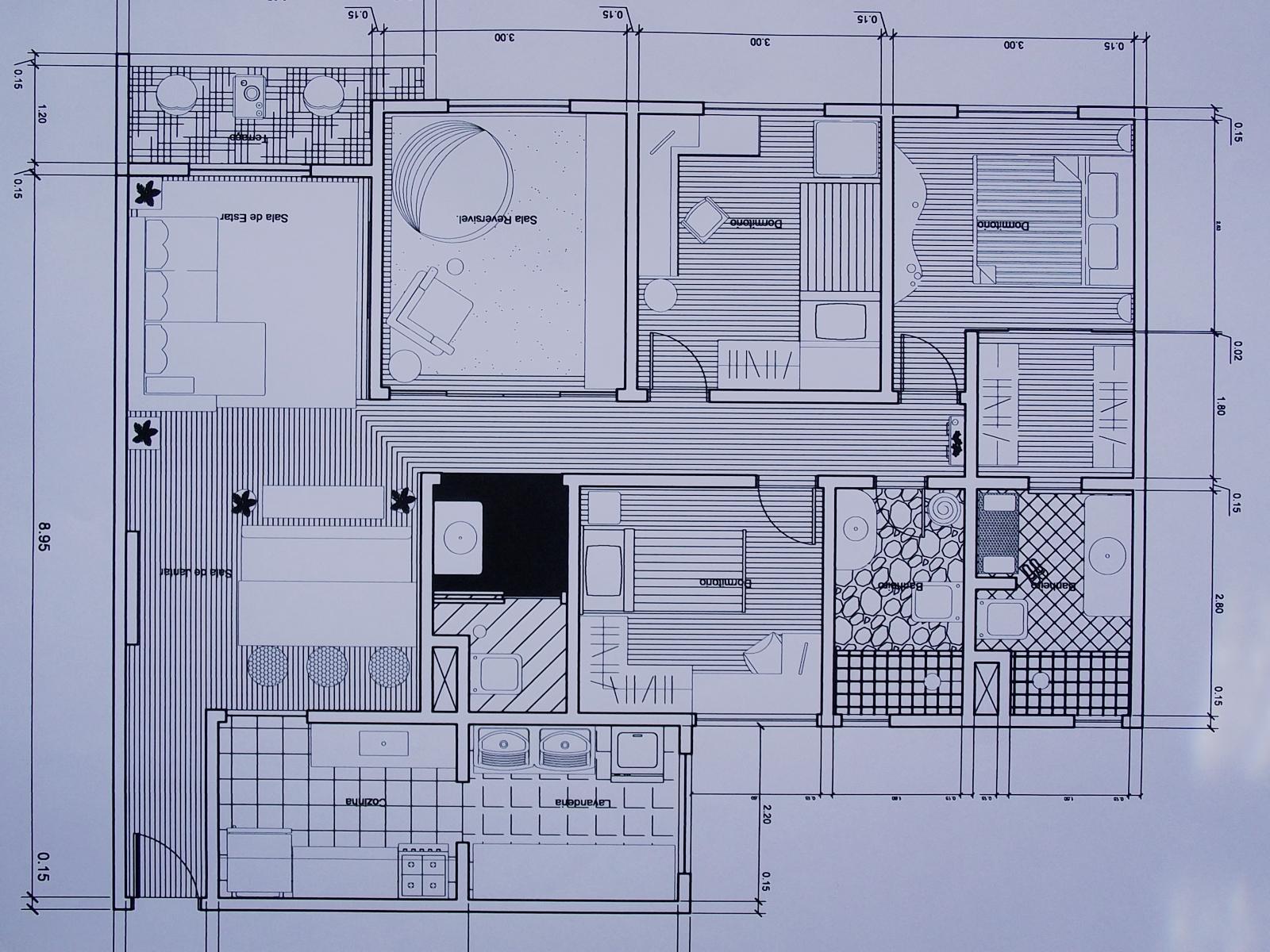 VINI.PAES PORTIFÓLIO: Projeto Residencial Módulo I (09/2011 á  #161926 1600x1200 Bancada Banheiro Autocad