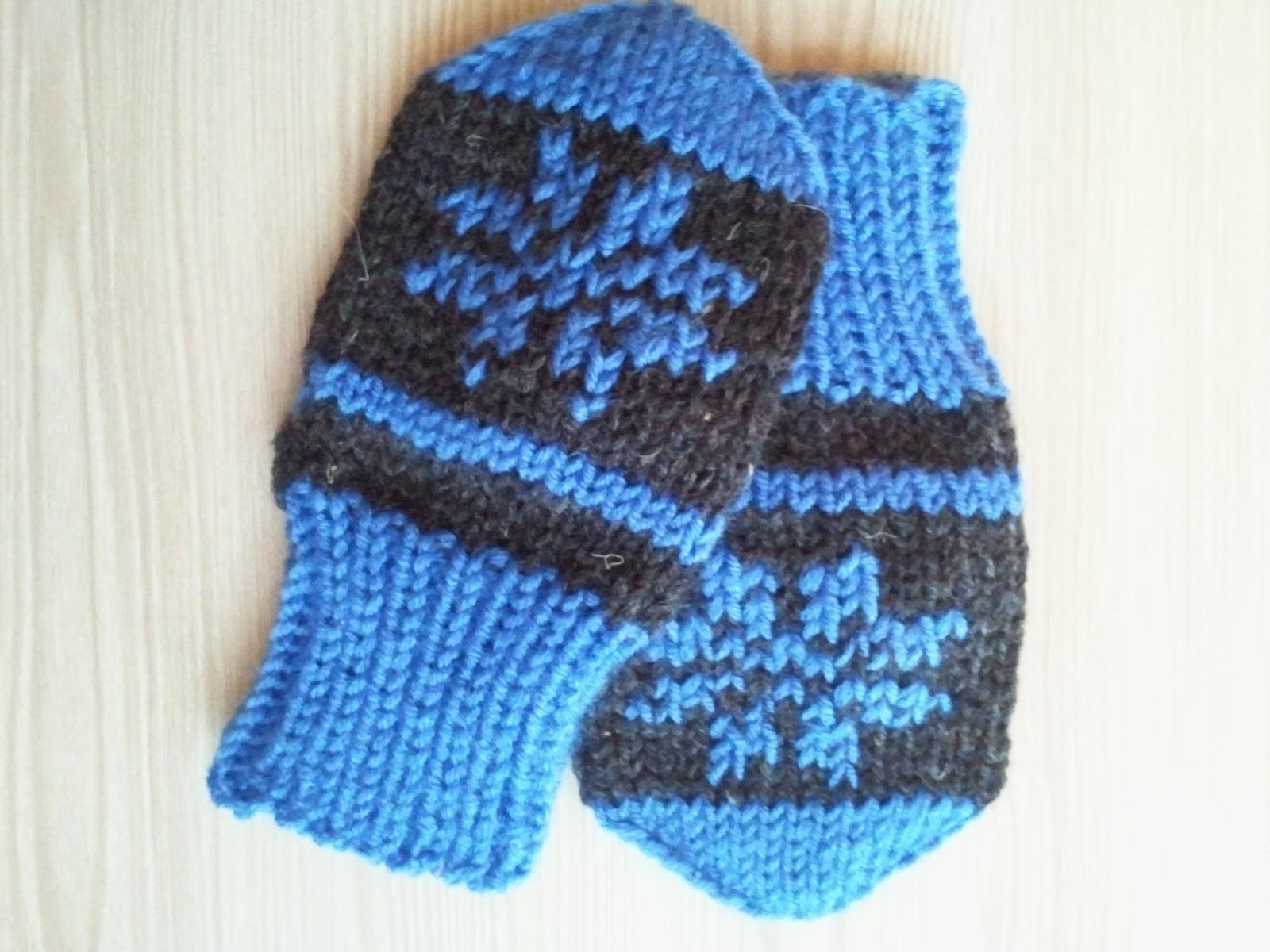Вязание варежек для малышей 4