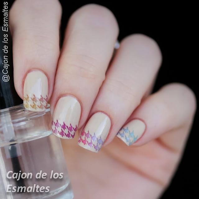 Uñas - Francesita multicolor