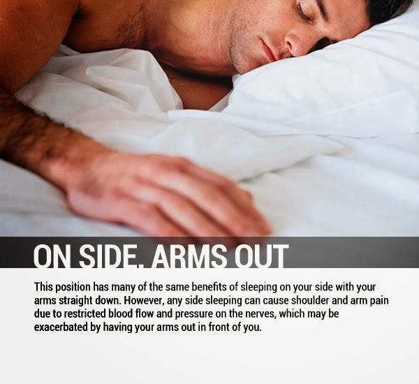 On Side, Arms Out - 8 Sleeping Positions and Their Effects On Health