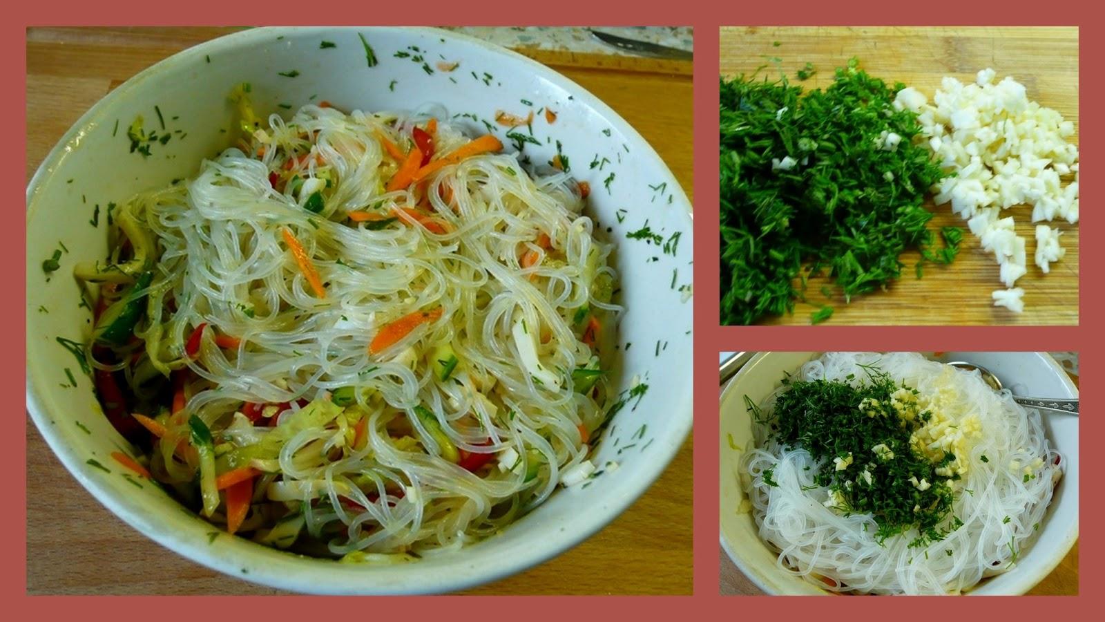 Салат с фунчозой рецепт пошаговое фото
