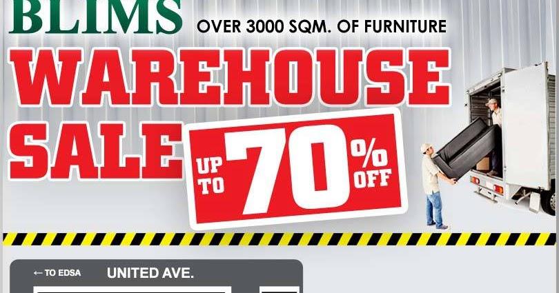 Manila Shopper BLIMS Furniture Warehouse SALE May 2013