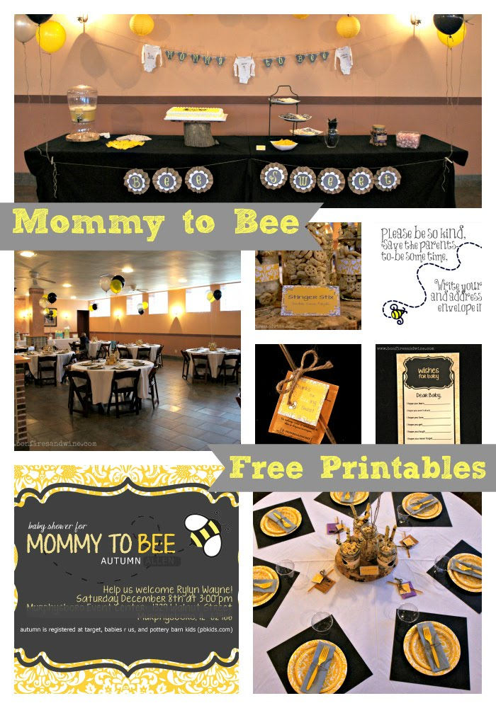Ok Im Done We Found So Many Great Ideas On Pinterest Like You Had To Guess The Mommy Bee Theme Was Much Fun And I Think It Turned Out Pretty