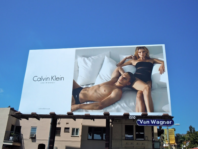 Calvin Klein 2011 swimwear billboard