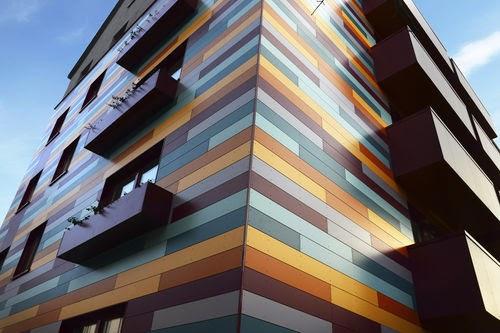 aluminio lacado fachadas