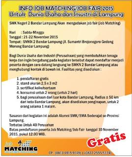 GRATIS ! Job Fair SMK Negeri 2 Bandar Lampung Segera Di Gelar Tahun 2015.