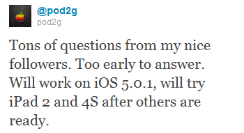 Pod2G iOS 5.0.1 Untethered Jailbreak On iPhone 4s, iPad 2
