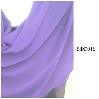 shawl halfmoon plain indigo
