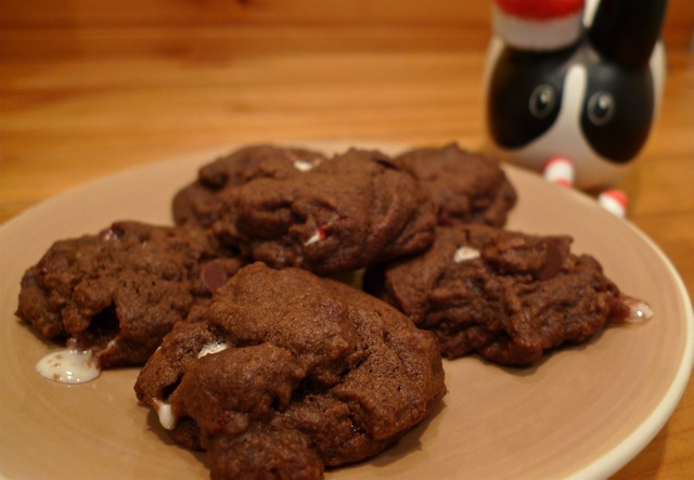 Year Of The Labbit Double Chocolate Candy Cane Cookies For Santa