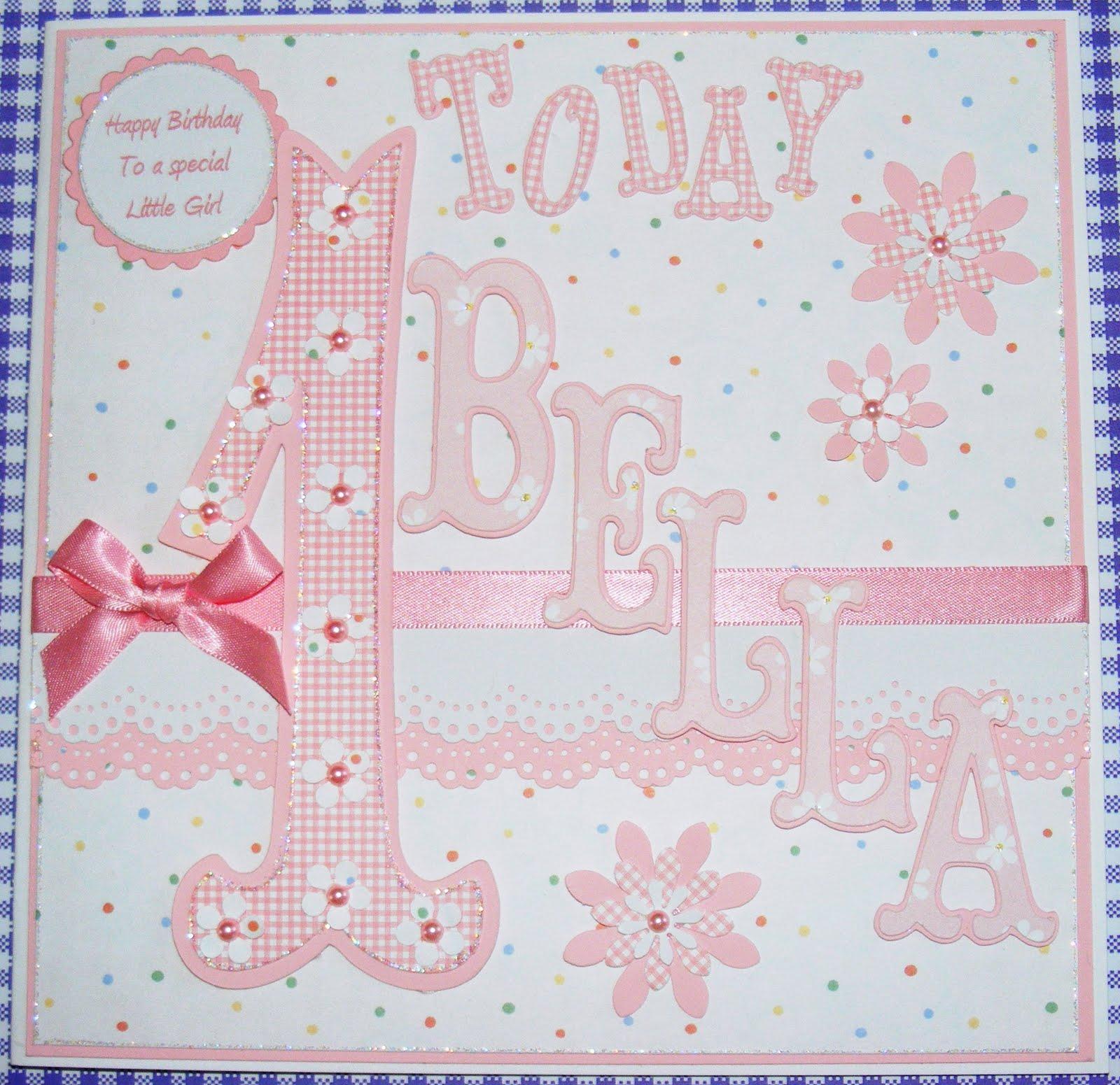 Poppyscabin baby girls first birthday card baby girls first birthday card bookmarktalkfo Gallery