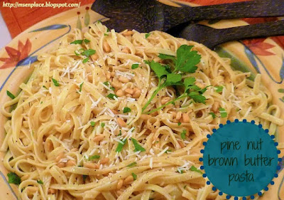 Pine Nut Brown Butter Pasta | Ms. enPlace