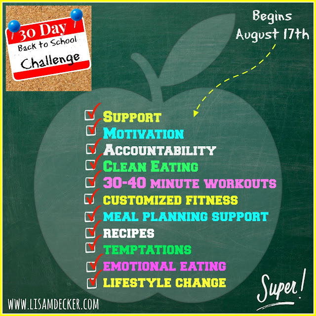 Back to School Challenge, CIZE, 21 Day Fix, Meal Planning, Clean Eating, Health and Fitness Accountability Groups, Online health and fitness support
