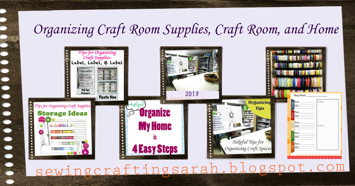 Sewing and crafting with sarah organizing craft room supplies craft room and home - Organizing craft supplies in small space collection ...