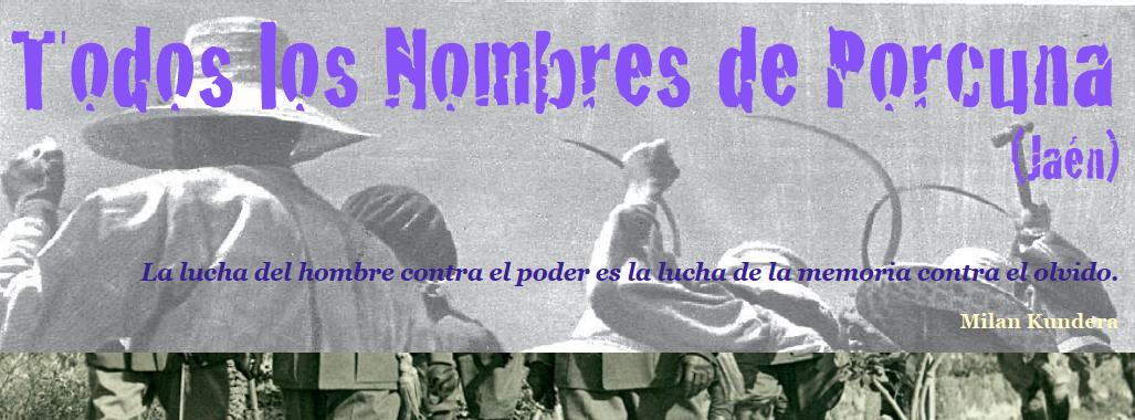 Todos los Nombres de Porcuna (Jaén)