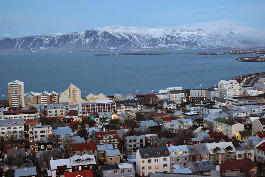Hallgrimskirkja (view from the top) - Pictures Of My Trip To Iceland