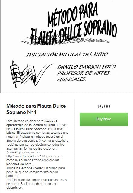 En este sitio puedes comprar mi Libro de Flauta Dulce.