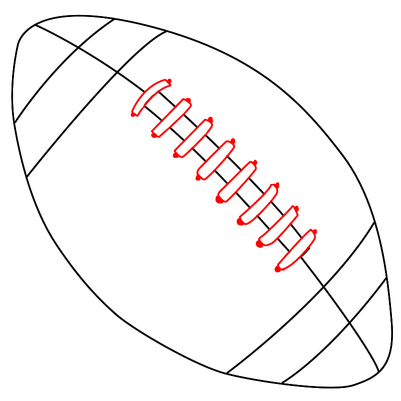 football drawing template