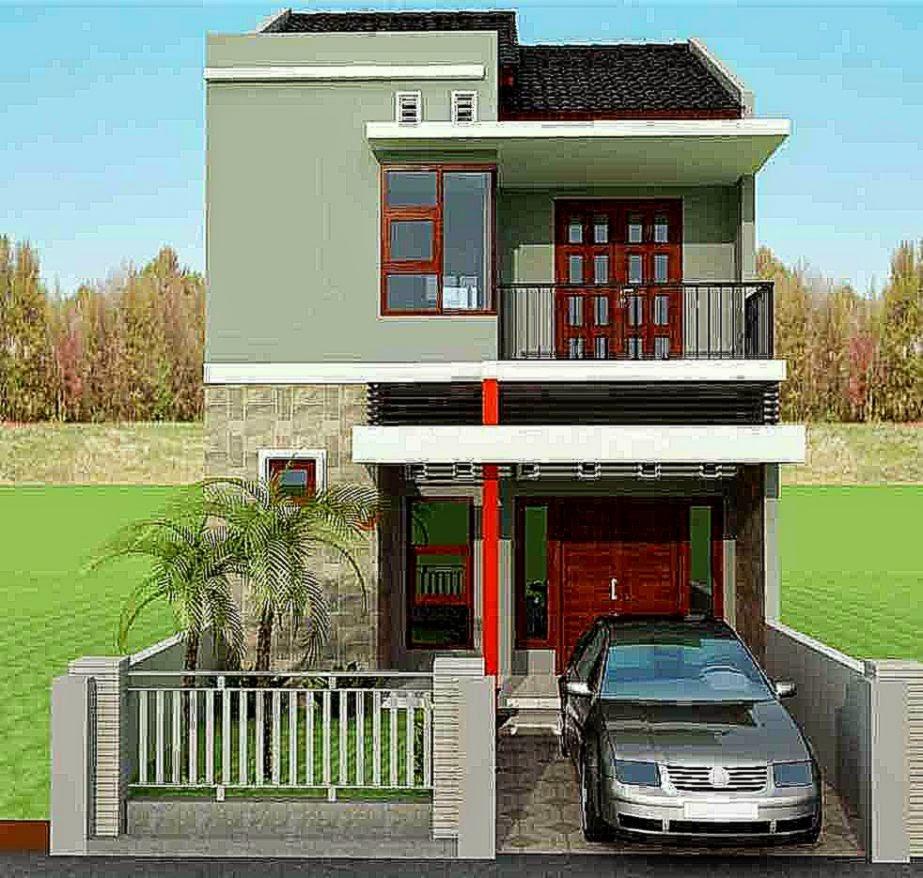 10 desain denah rumah minimalis modern 2 lantai type 45 - Desain Rumah Minimalis Type 45 1 Lantai Dan 2 Lantai