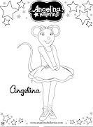 Angelina Balerina ab coloringsheet