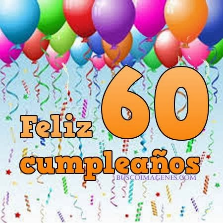 feliz 60 cumpleaños