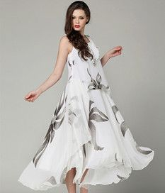 Dress wanita motif bunga cantik murah online masa kini