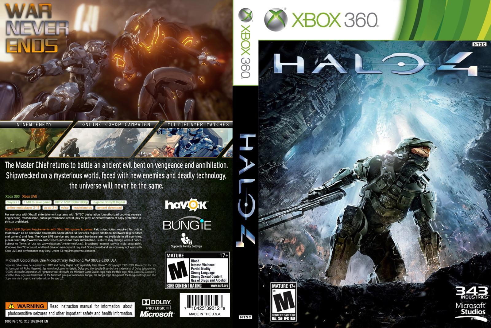 Capa Halo 4 Xbox 360