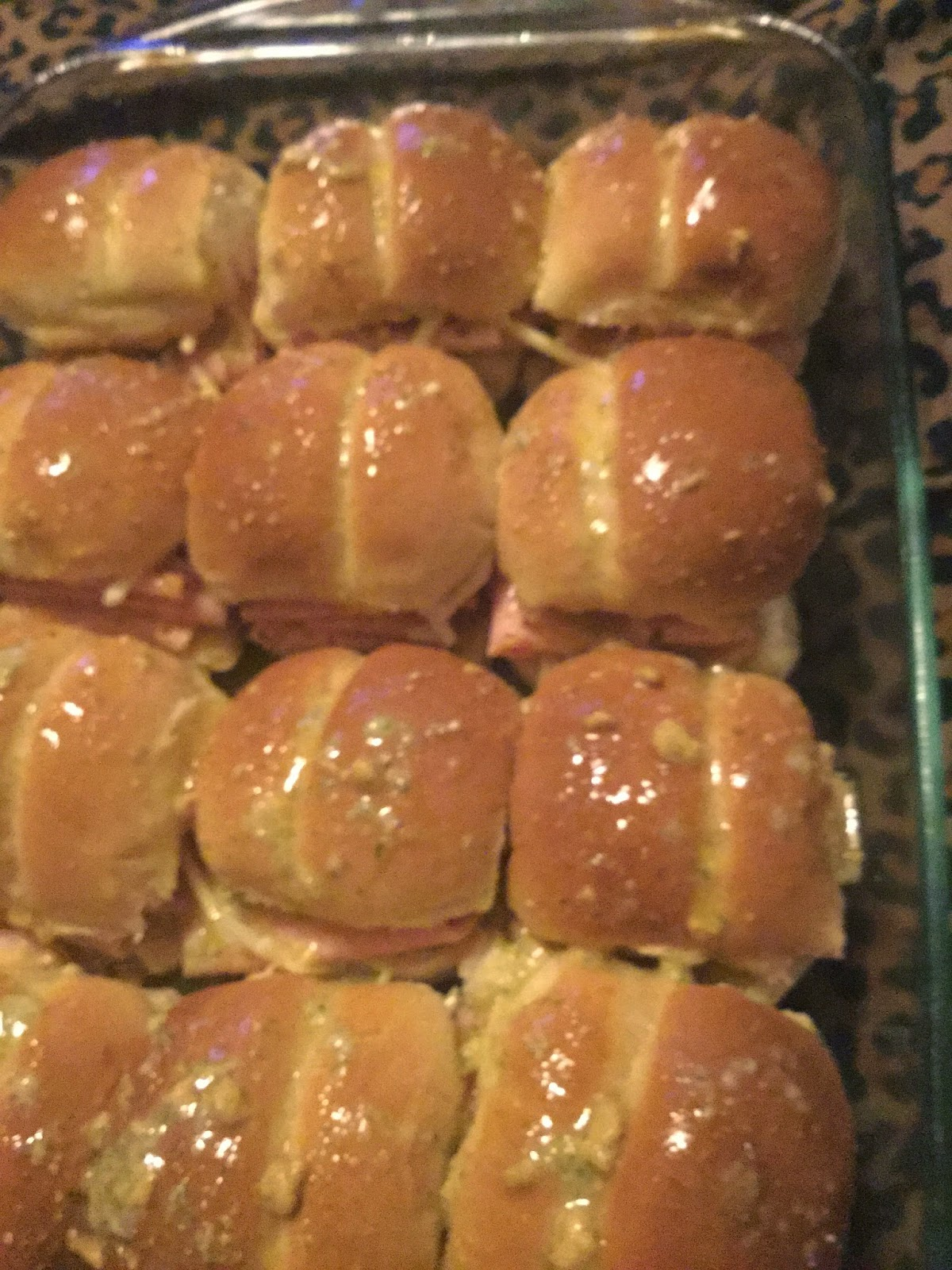 Ham sliders, party food,