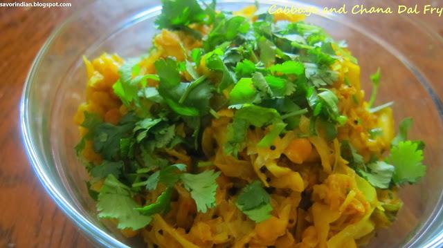 cabbage chana dal fry recipe /patta gobi chana dal subji