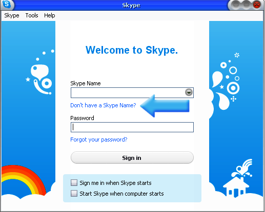 how to have skype open on startup