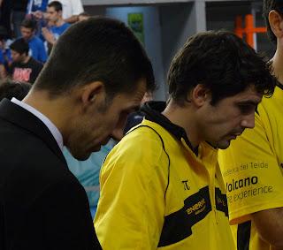 Nacho Yañez y Sau Blanco dos jugadores exfuenlabreños.