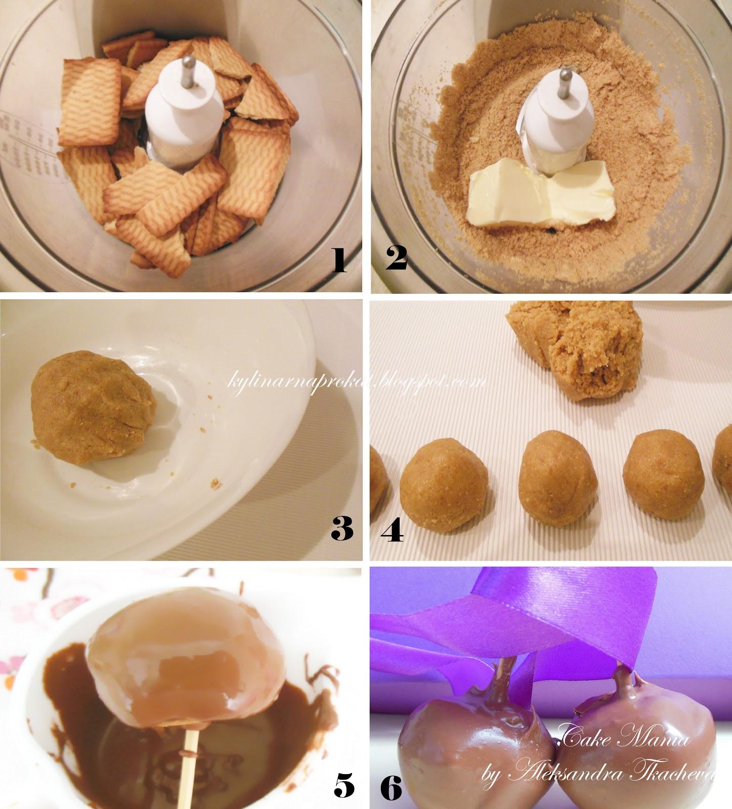 Кейк попсы из печенья и сгущенки рецепт