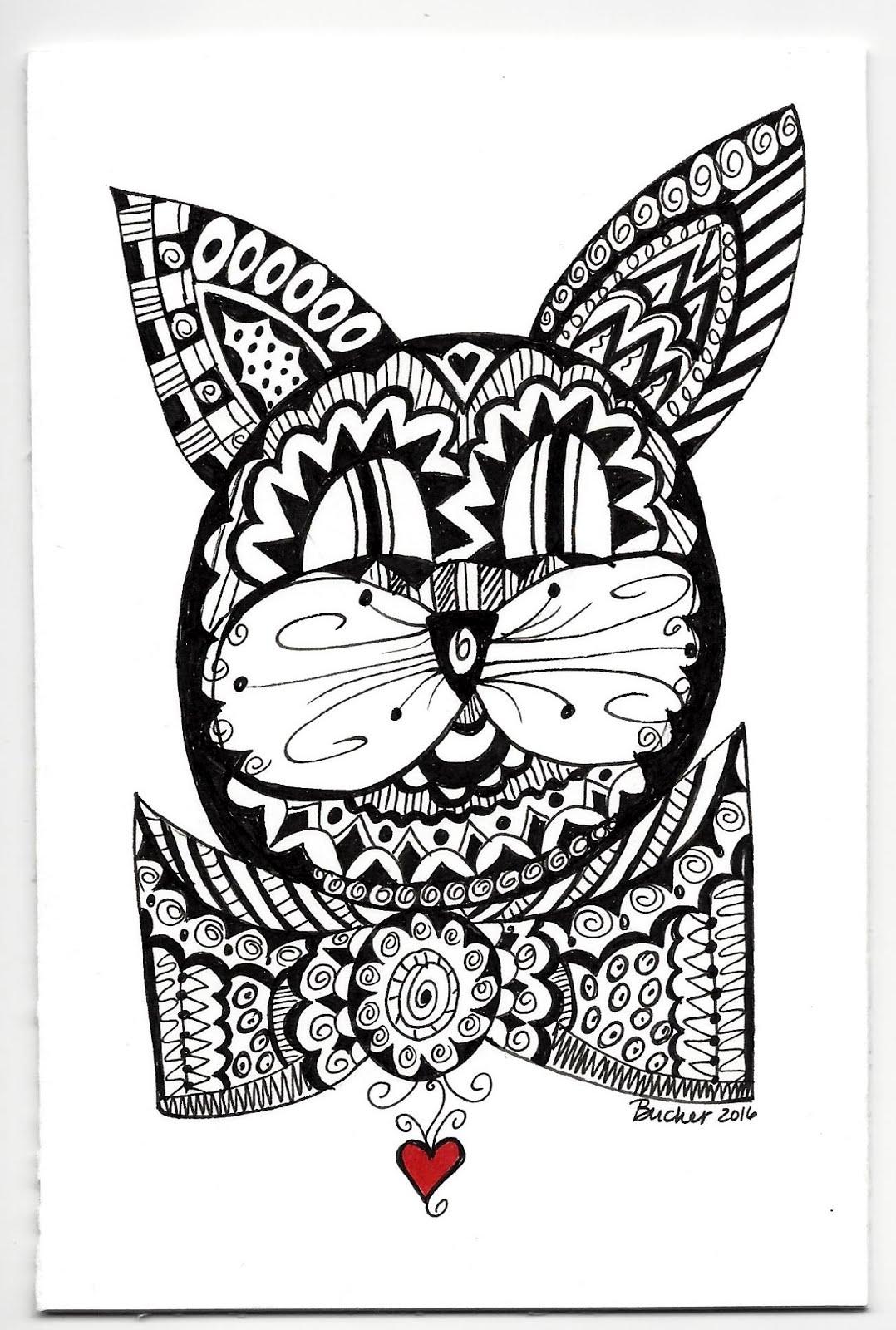 black cat doodle