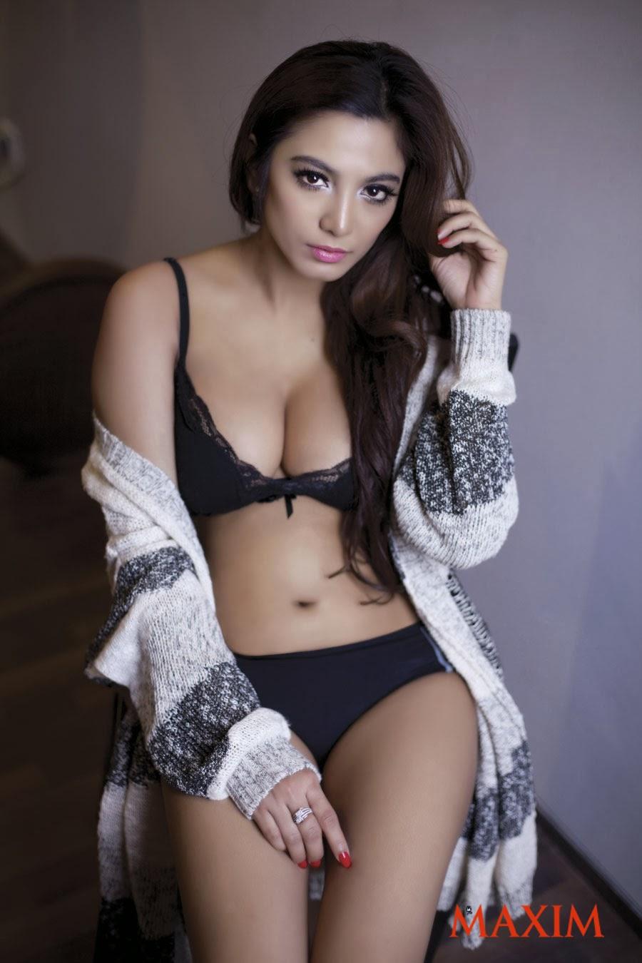 Foto Sisi Salsabila Model Maxim Indonesia Februari 2014