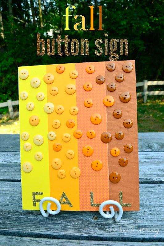 Fall button sign tutorial