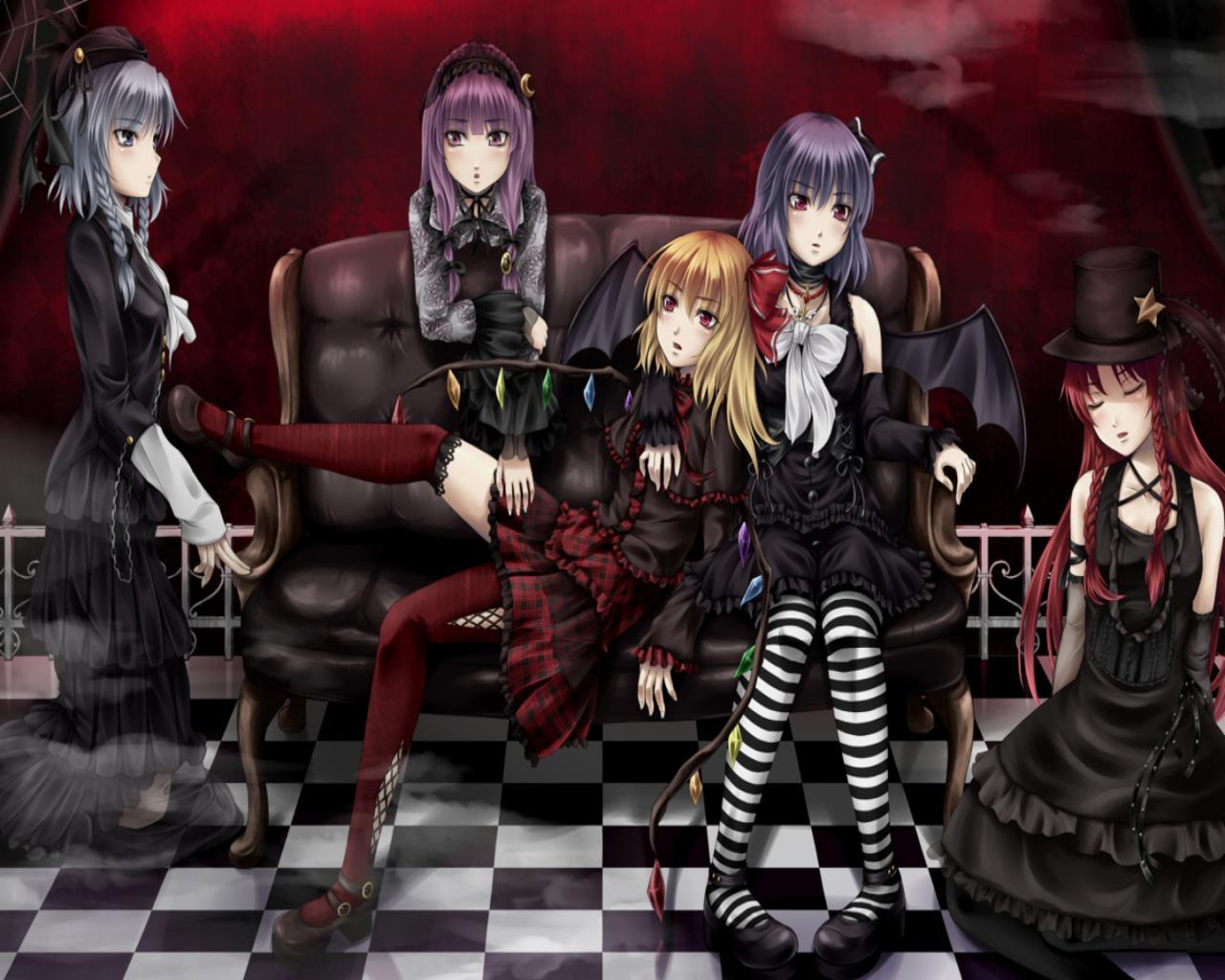 Goth anime girl