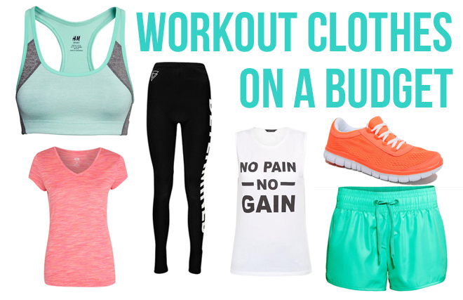Workout clothes on a budget