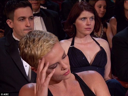 Charlize Theron Oscars we saw your boobs