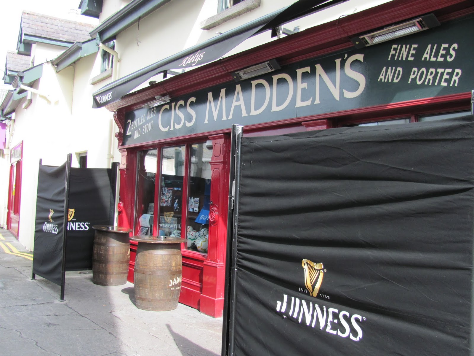 The entrance to Ciss Madden's Pub, attached to Keily's of Donnybrook in Dublin, Ireland