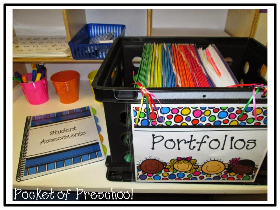 Portfolio and Assessment Organization - Pocket of Preschool