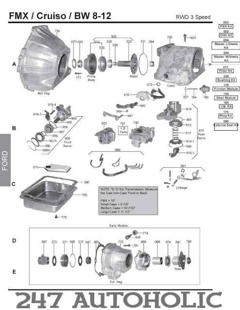 ford cruise o matic transmission diagram