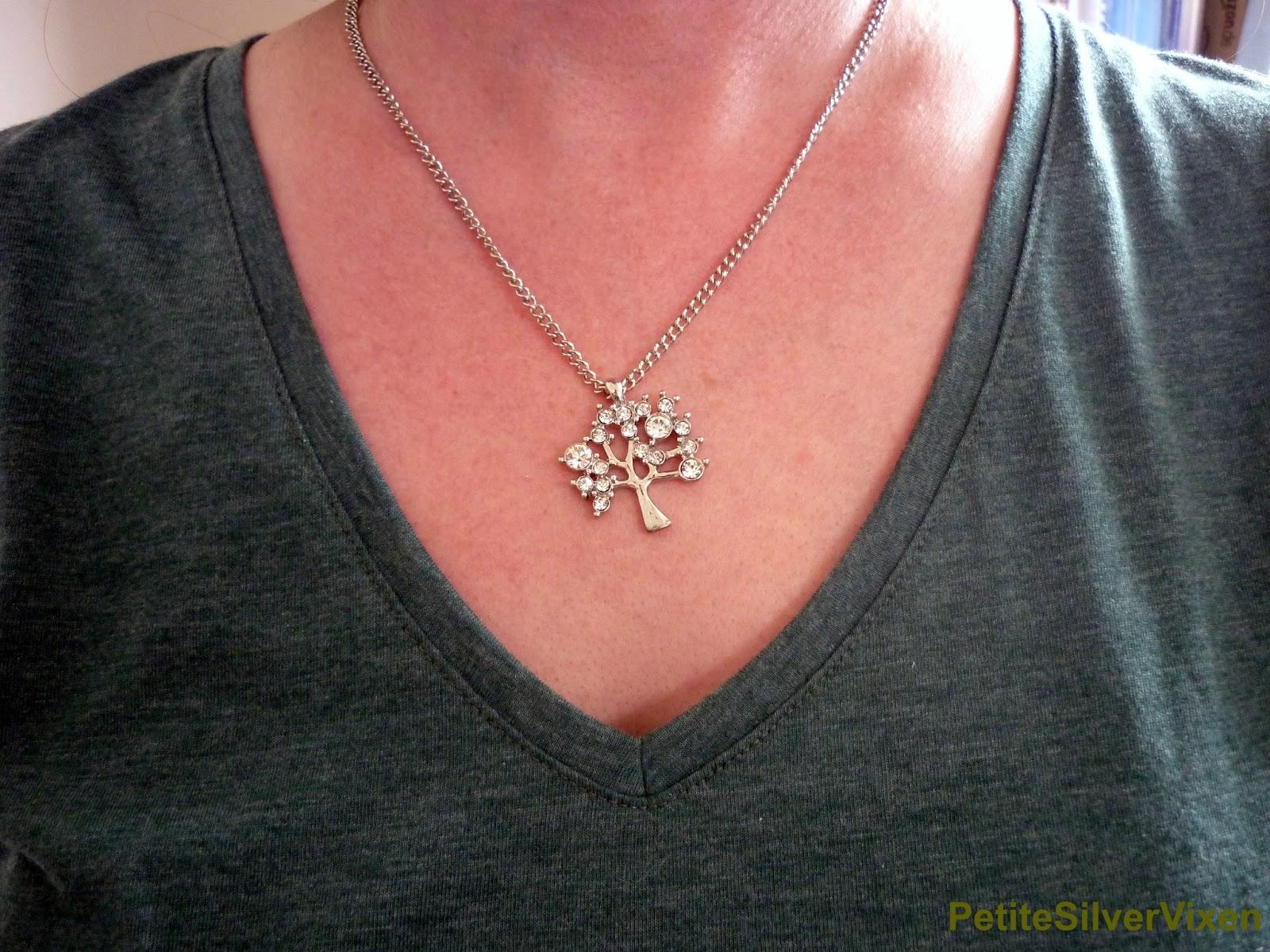 Bonsai Tree Silver Necklace