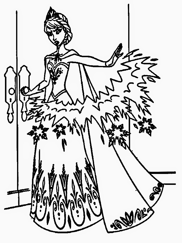 Frozen elsa face coloring pages for Elsa frozen coloring pages