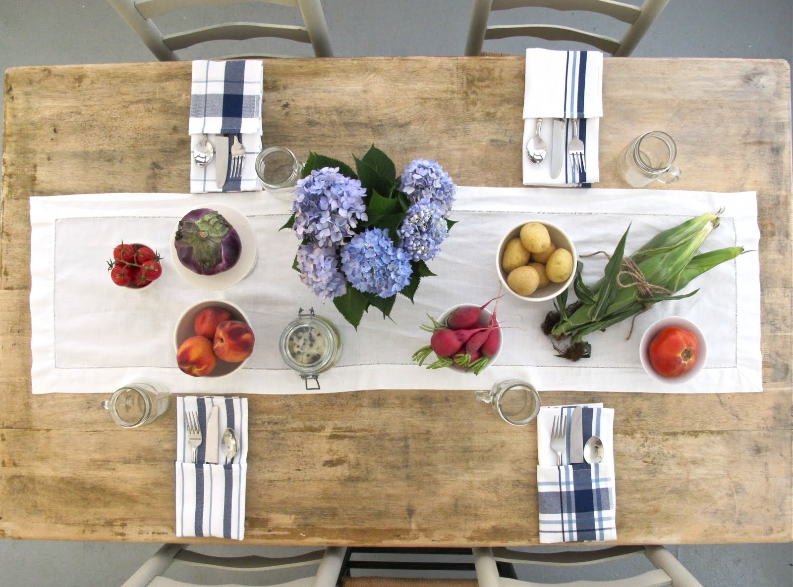 jenny steffens hobick: farmers market table setting | farm to