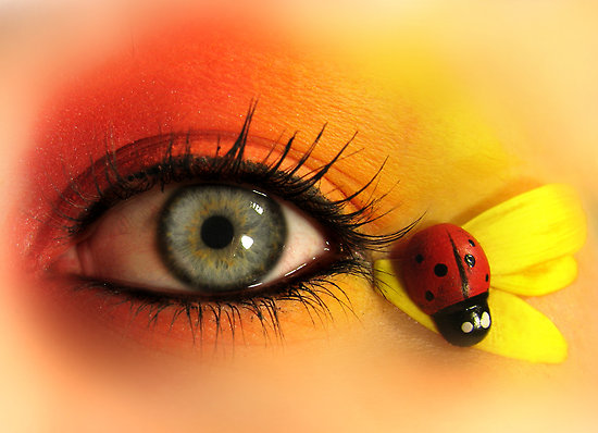 Cute Ladybug Eye Makeup