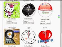 Kumpulan HTML / Script Widget Jam Lucu Unik Keren Imut Untuk Mempercantik Blog