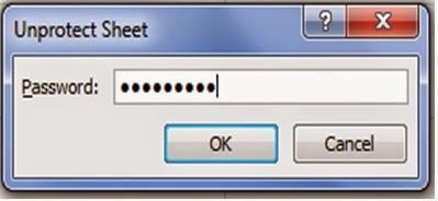 Membuka proteksi lembar kerja Excel