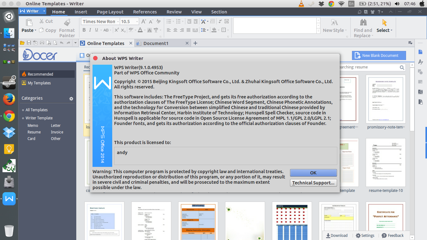 Kingsoft Office (WPS) aplikasi pengganti Microsoft Office
